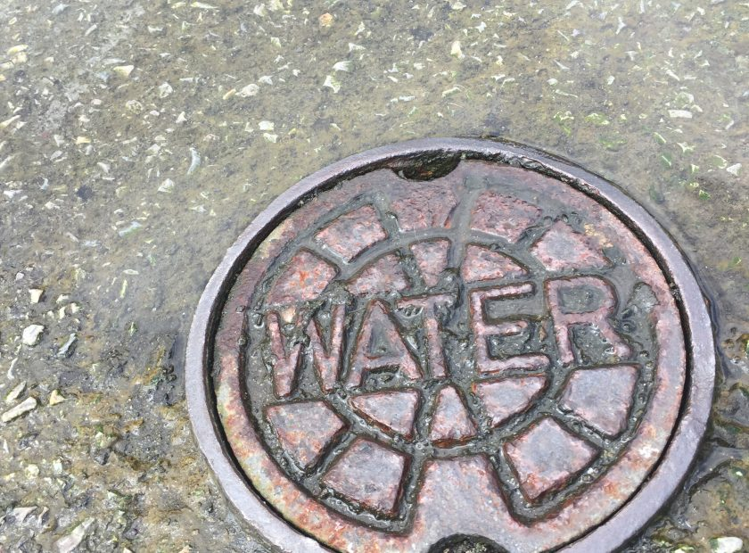 Water pipe cover square